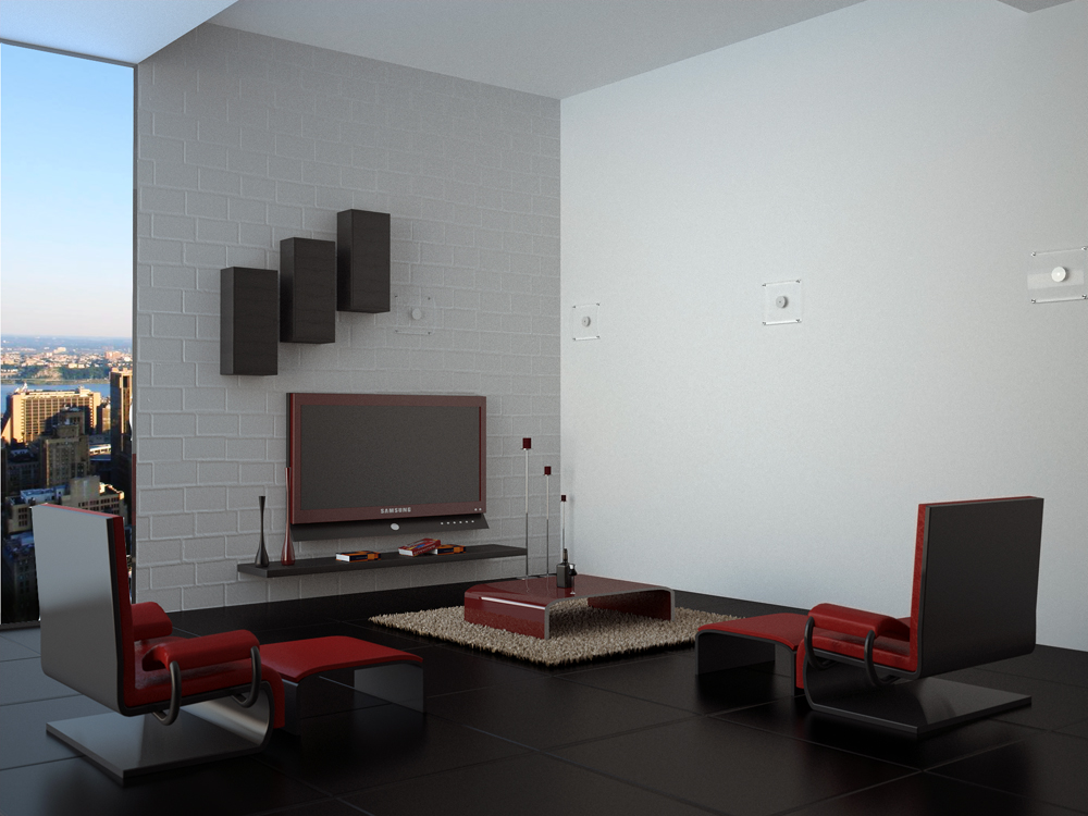 modern living room by Still-Cg