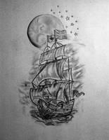 Half Sleeve Tattoo Design by delfinia98
