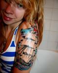 Half Sleeve Tattoo Stage 2 by delfinia98