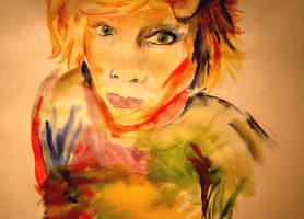 Sloppy Portrait by delfinia98