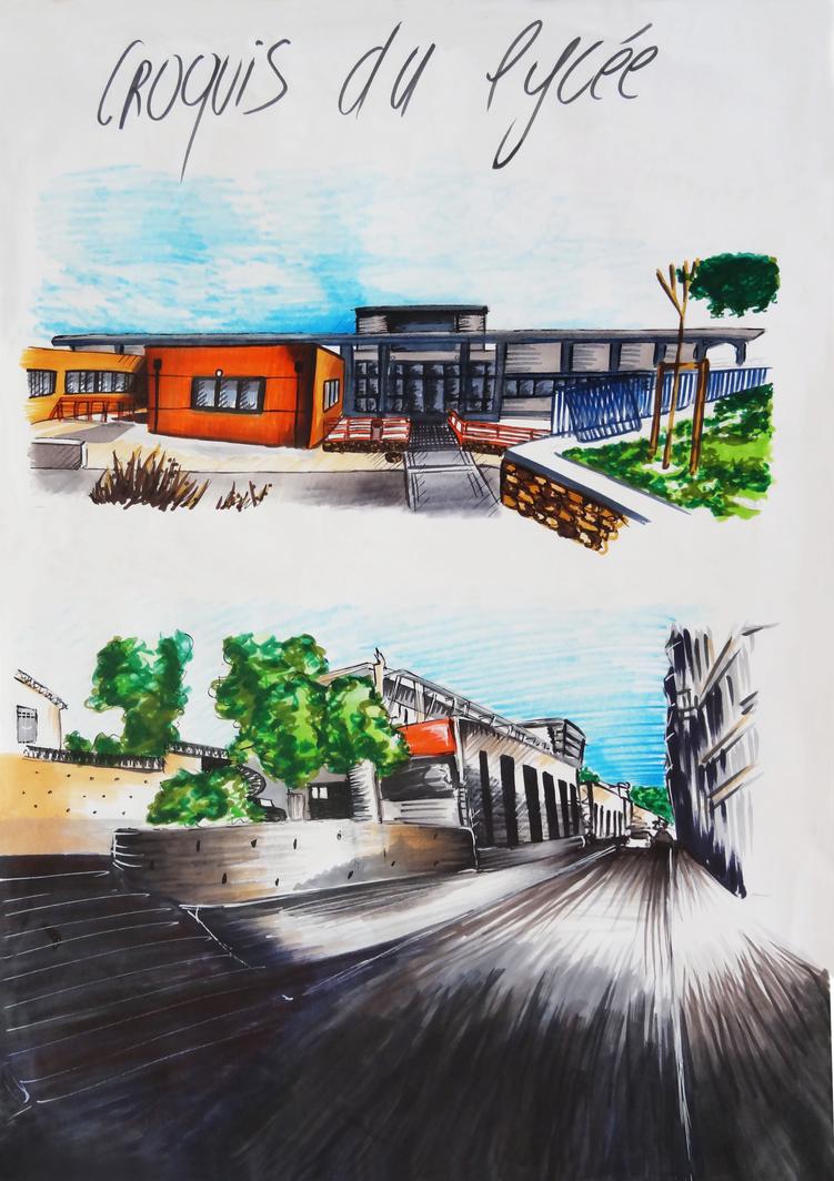 high school by Isunah
