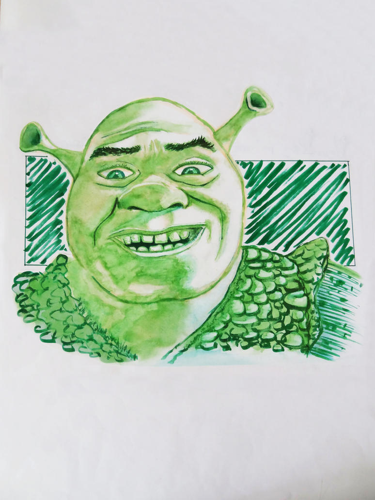 Shrek on a sheet Layout verso. by Isunah