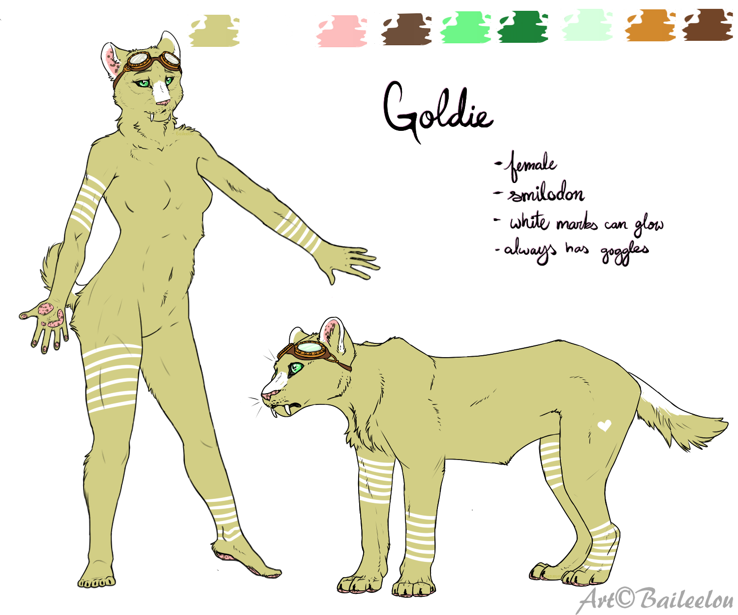 GoldenCat22 Reference .:Commission:. by Baileeluz