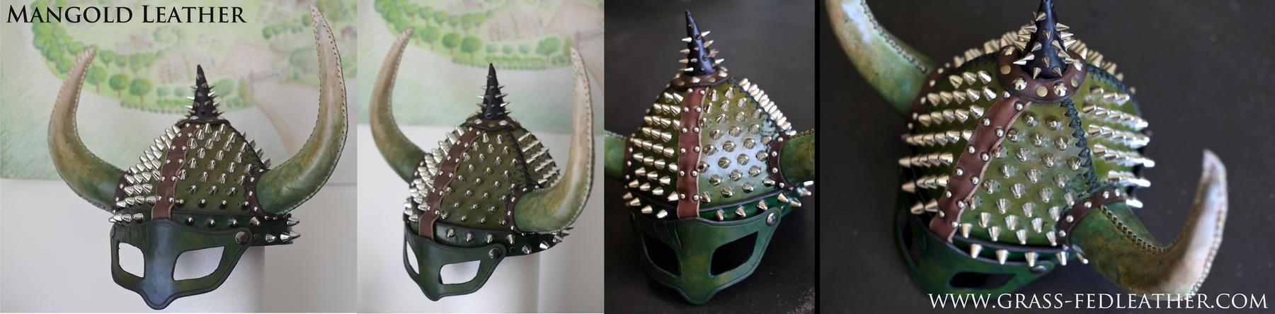 Green Dragon-Helmet by liontroll