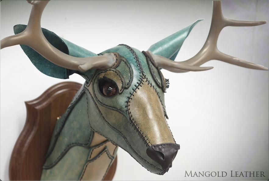 Blue Deer Head by liontroll