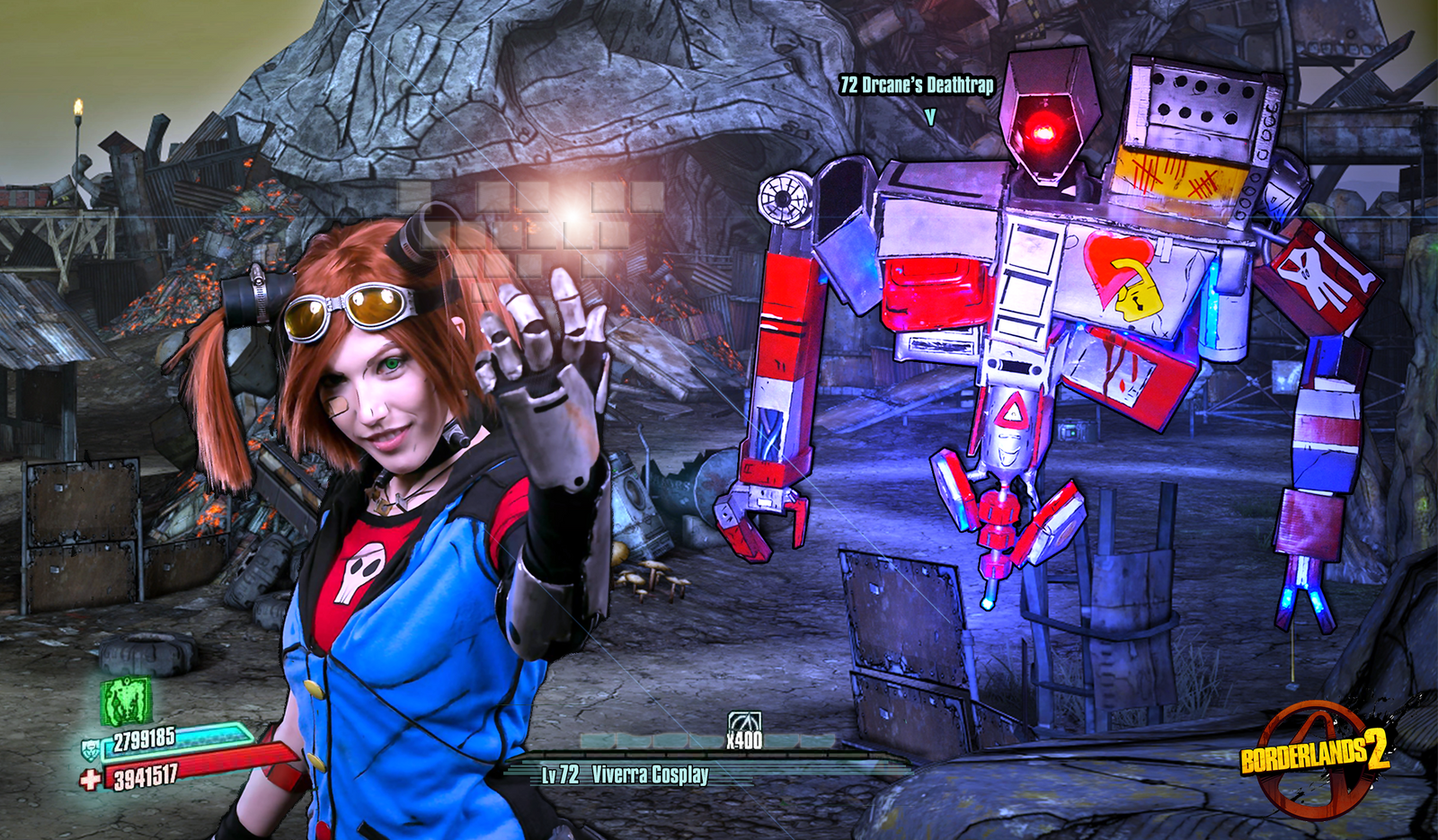 Group of Gaige And Deathtrap Cosplay