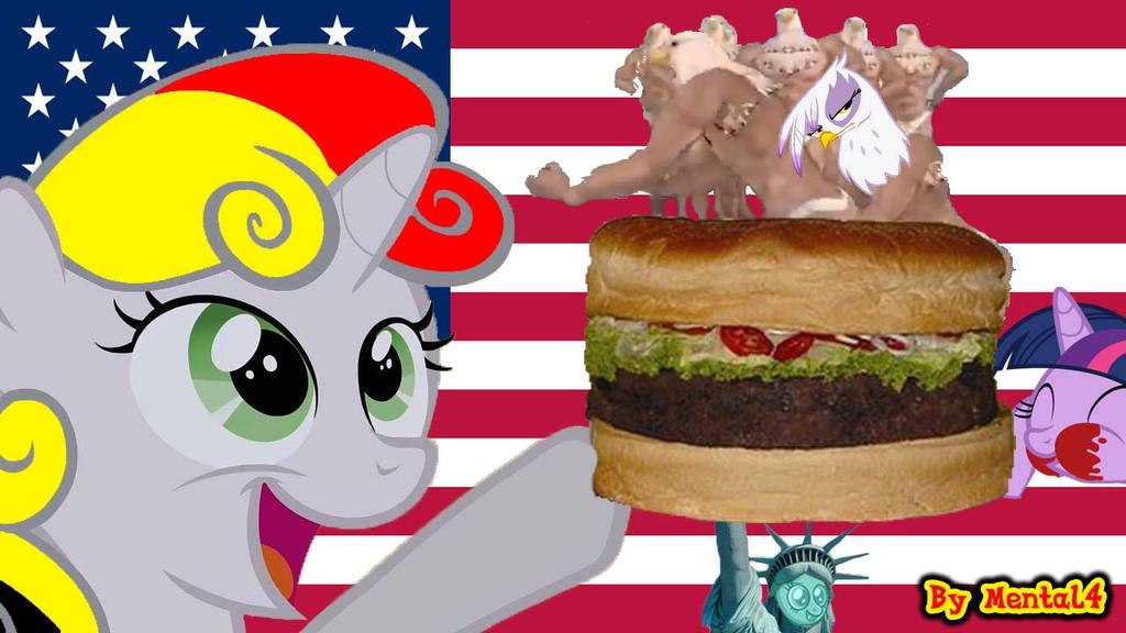 Sweetie Belge - USA Hamburger by MrMental4