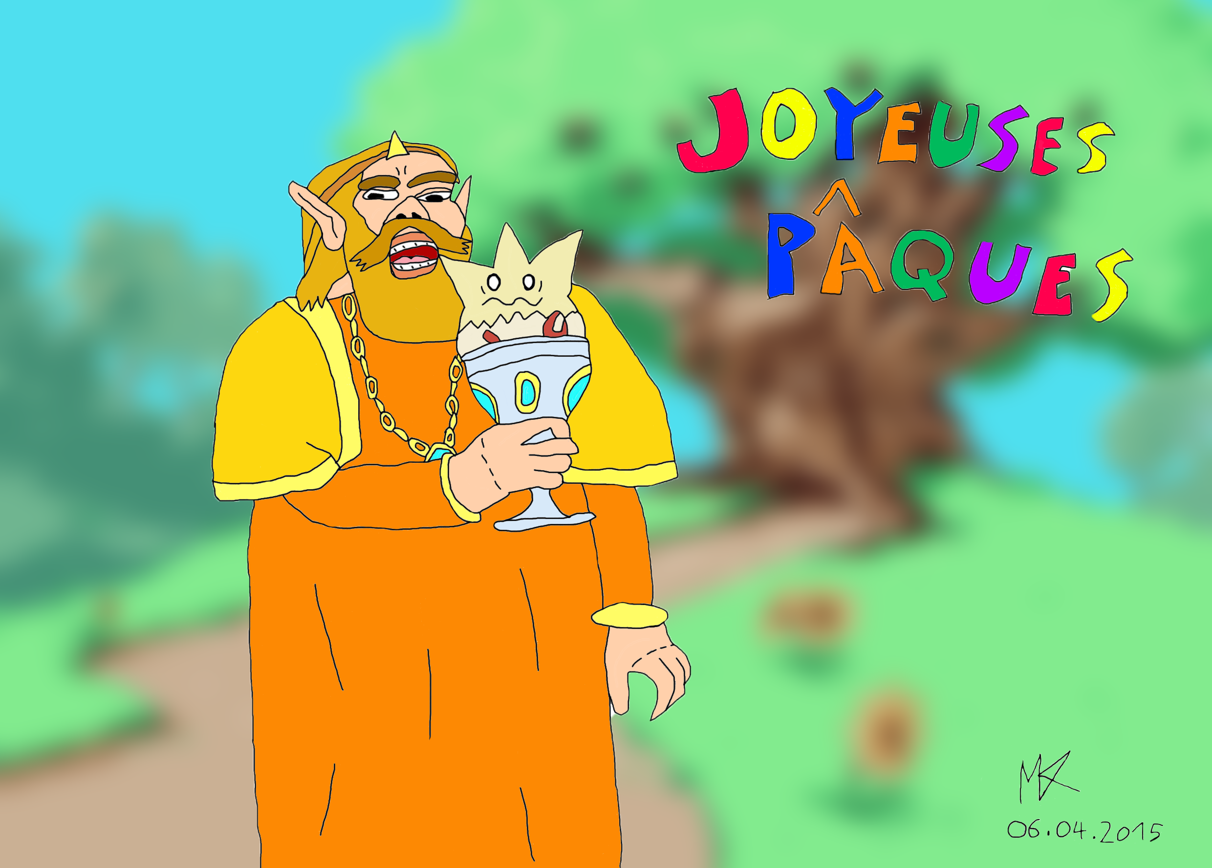 Happy Easter ! King Harkinian (F)Eat Togepi by MrMental4