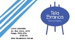 Tela Branca Cartao by Atmo26