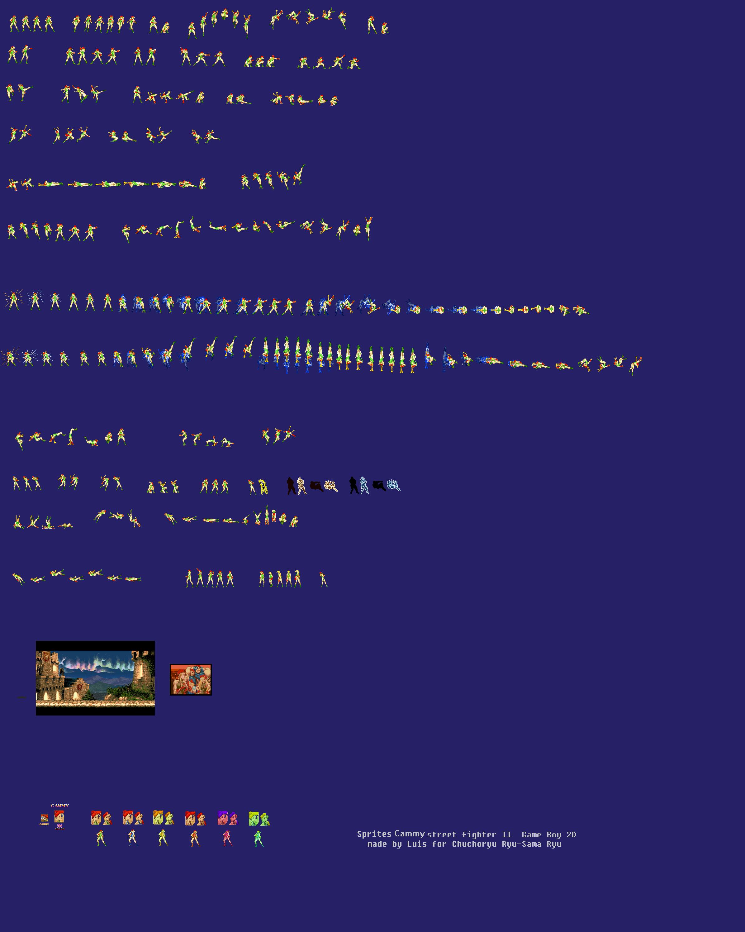 Sprite Cammy Street Fighter ll Gameboy 2D by luis ...