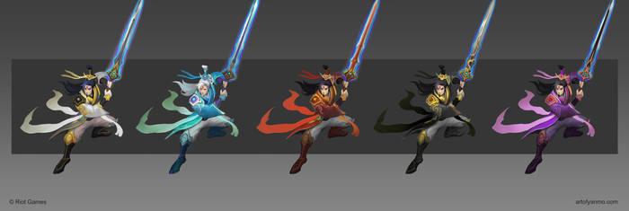 Immortal Heroes Master Yi chroma concept design