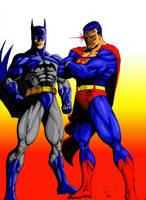 Superman and Batman (color 2) by Lun-K