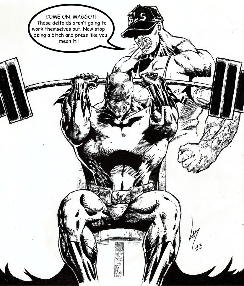 Greg Capullo training Superman by Lun-K on DeviantArt