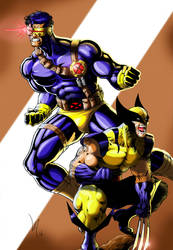 Cyclops and Wolverine by Lun-K
