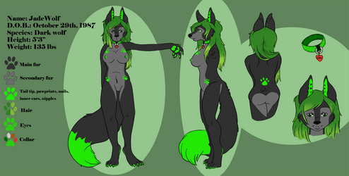 Commission - Jade Wolf by RaowenBlackbird