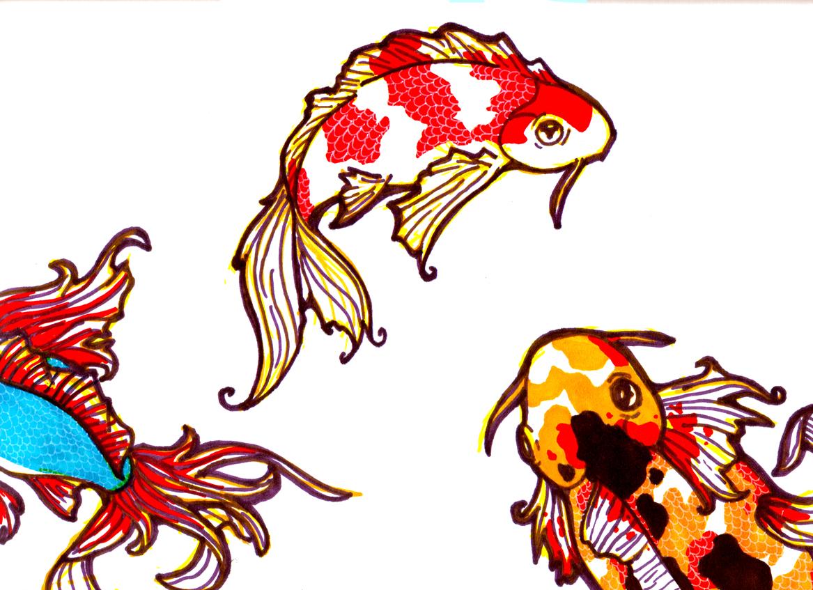 Kohaku koi by raowenblackbird on deviantart for Koi japanese art