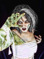 The Bride of Frankenstein by DaYDid