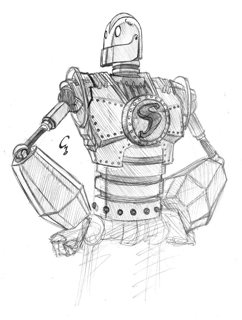 coloring pages iron giant boy - photo#27