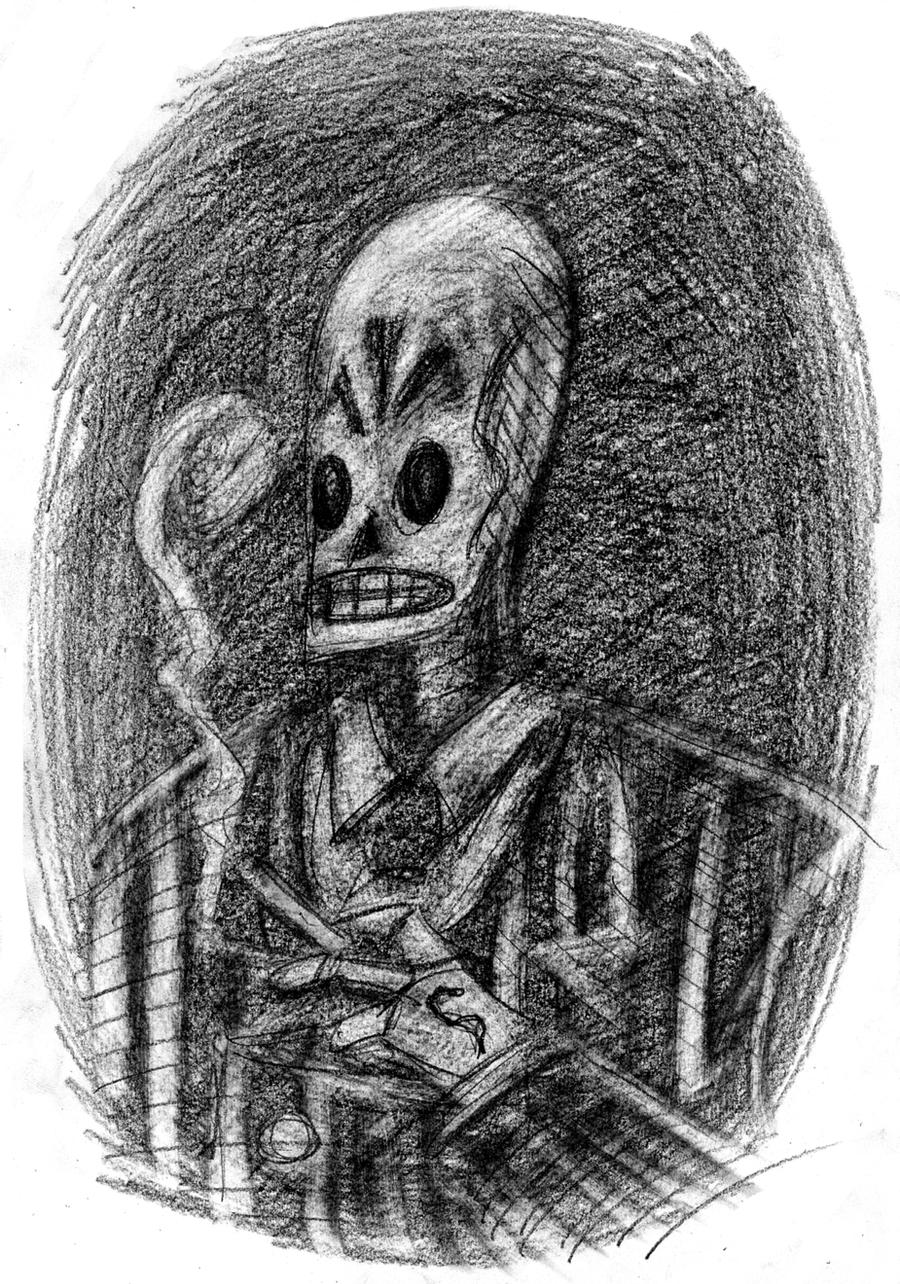 Manny Calavera Sketch by ElectroCereal