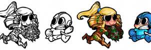 Chibi - Megaman + Samus
