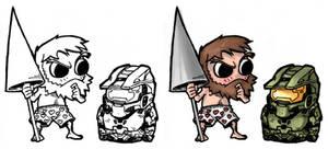 Chibi - Sir Arthur + Spartan