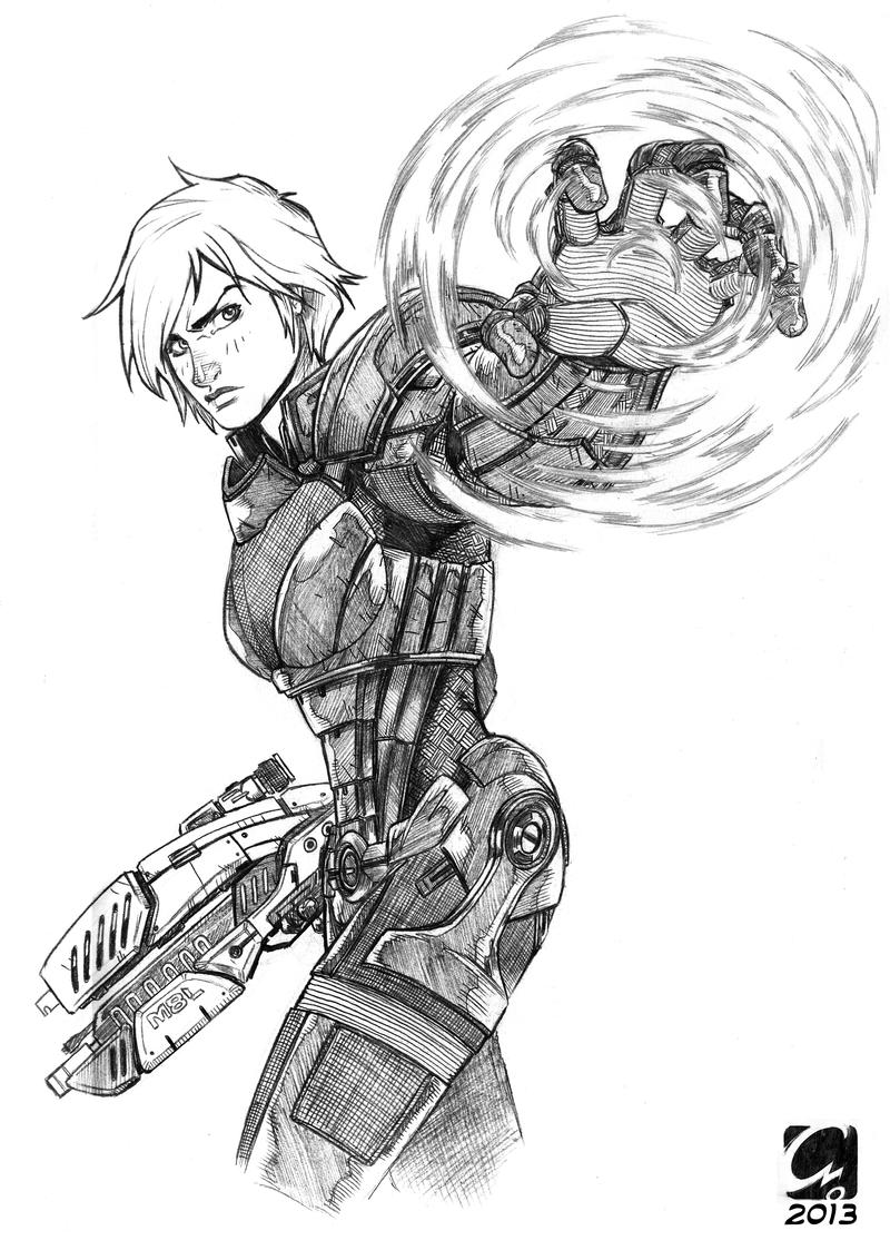 Commission - Commander Shepard by ElectroCereal
