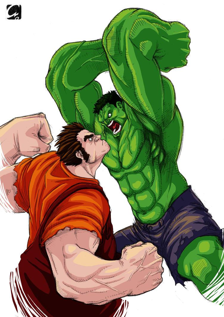 Ralph Smash vs Wreck-it Hulk by ElectroCereal