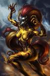 Donna Diego Scream symbiote by Valentine Khruslov