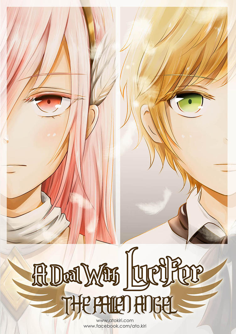 Anime School Book Cover : A deal with lucifer the fallen angel book cover by