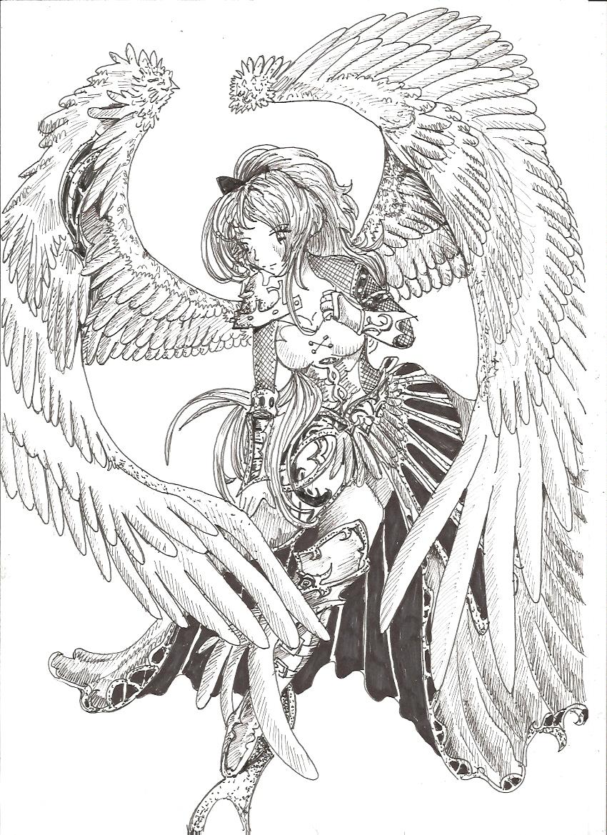 angel drawing by envoysoldier on deviantart