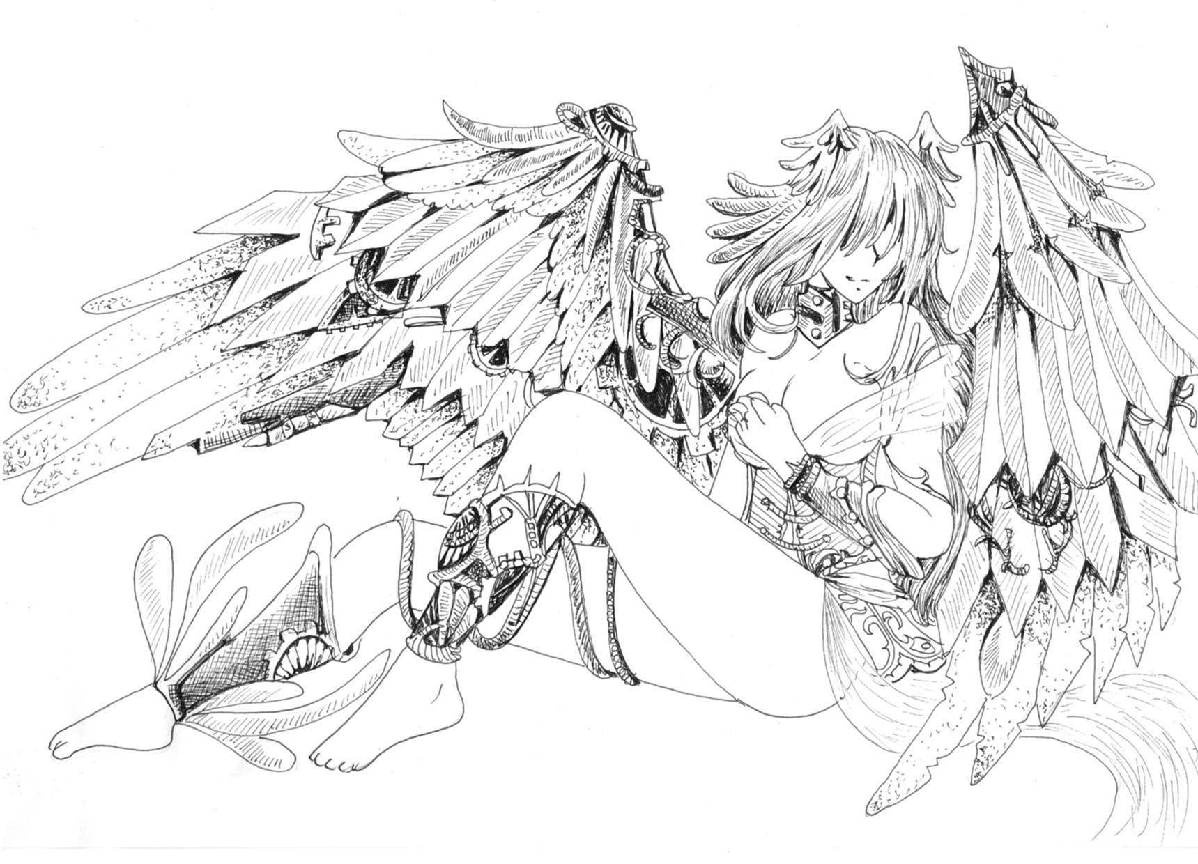 coloring pages of fallen angels - photo#45