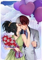 Bouquet and Balloons by Reishichi