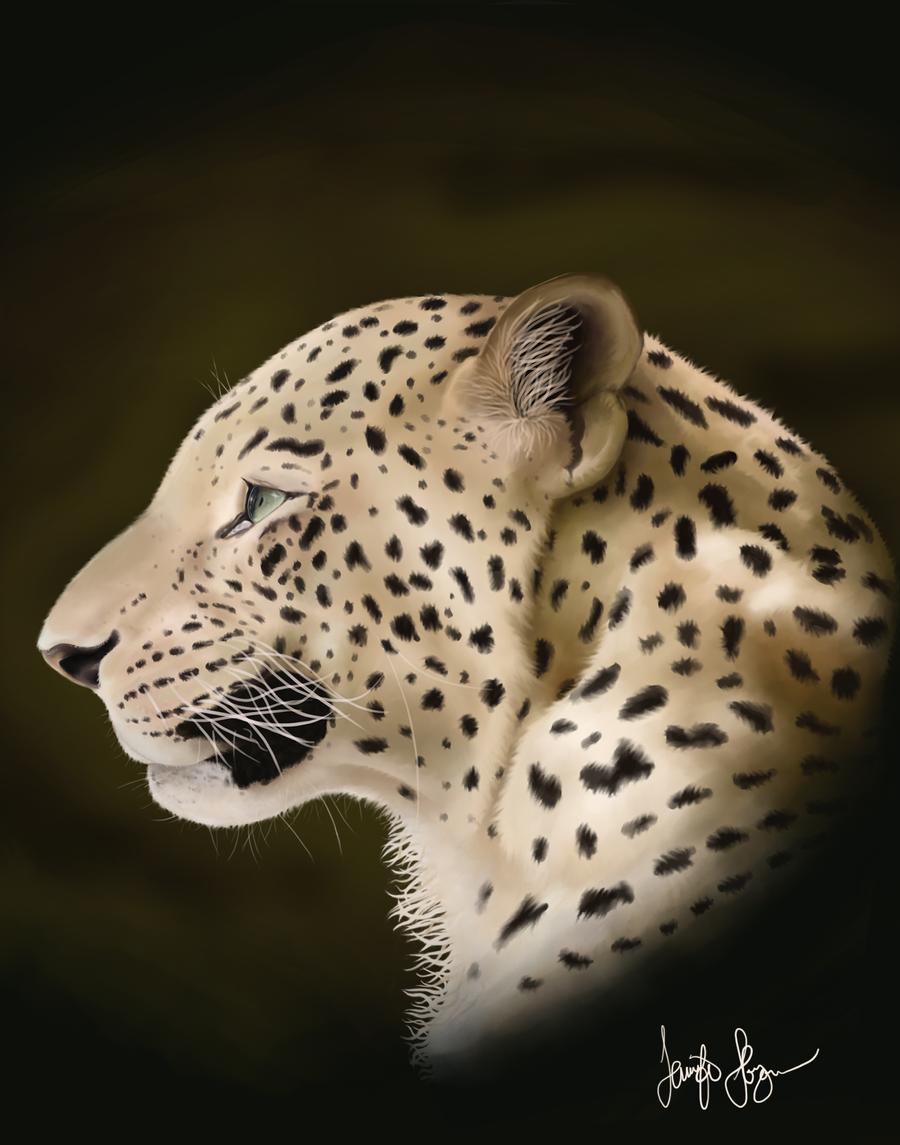 Realistic Leopard by NinjasHeart