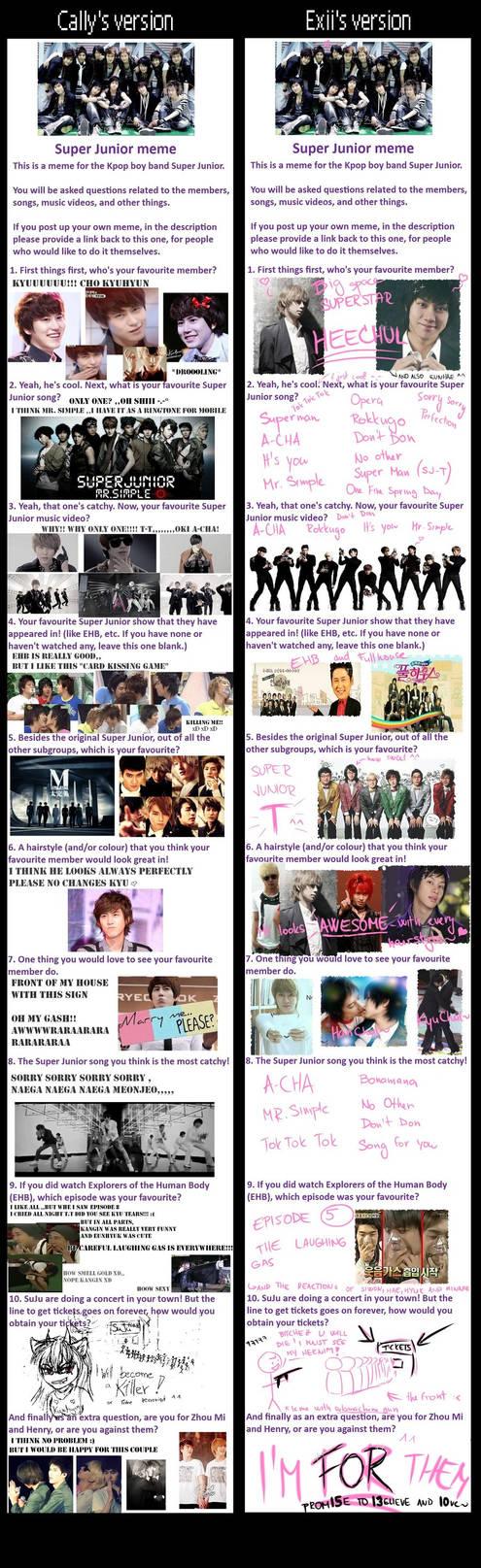 Super Junior::double meme by Cally-Dream on DeviantArt