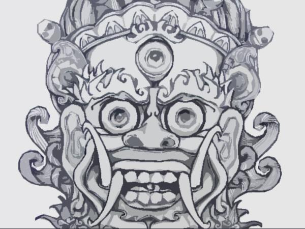 Chinese dragon mask drawing