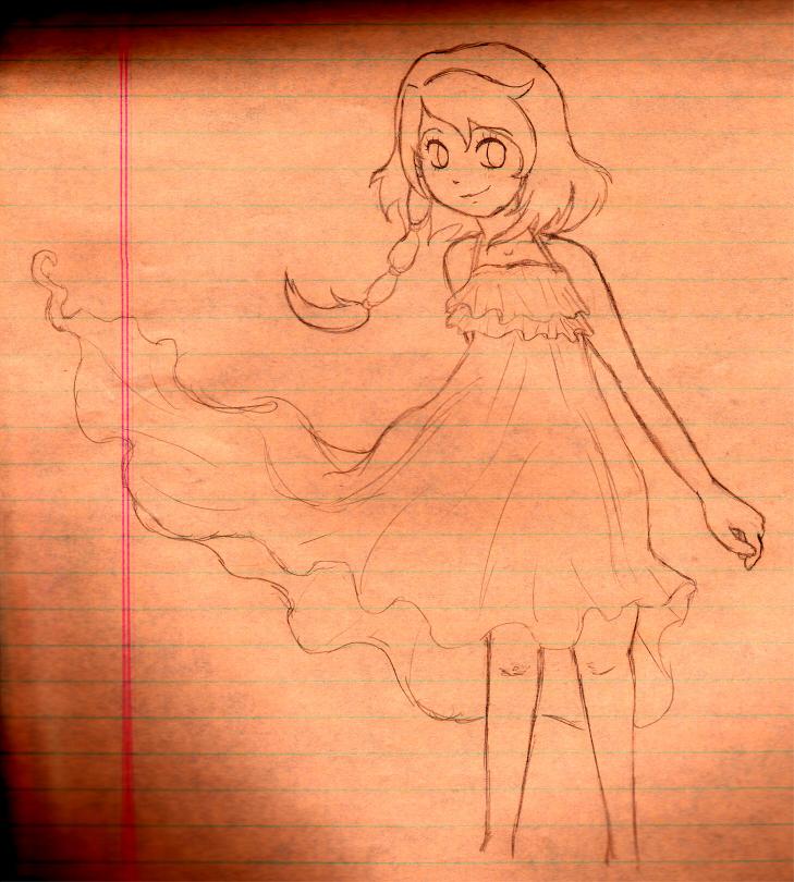 Mona Sketch~ by NicolaCola