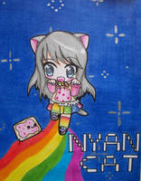 Chibi Nyan Cat Girl by Kaidankuri