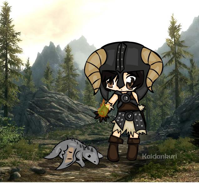 Skyrim Character by Kaidankuri