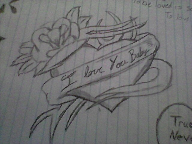 i love you drawings for her in pencil - photo #12