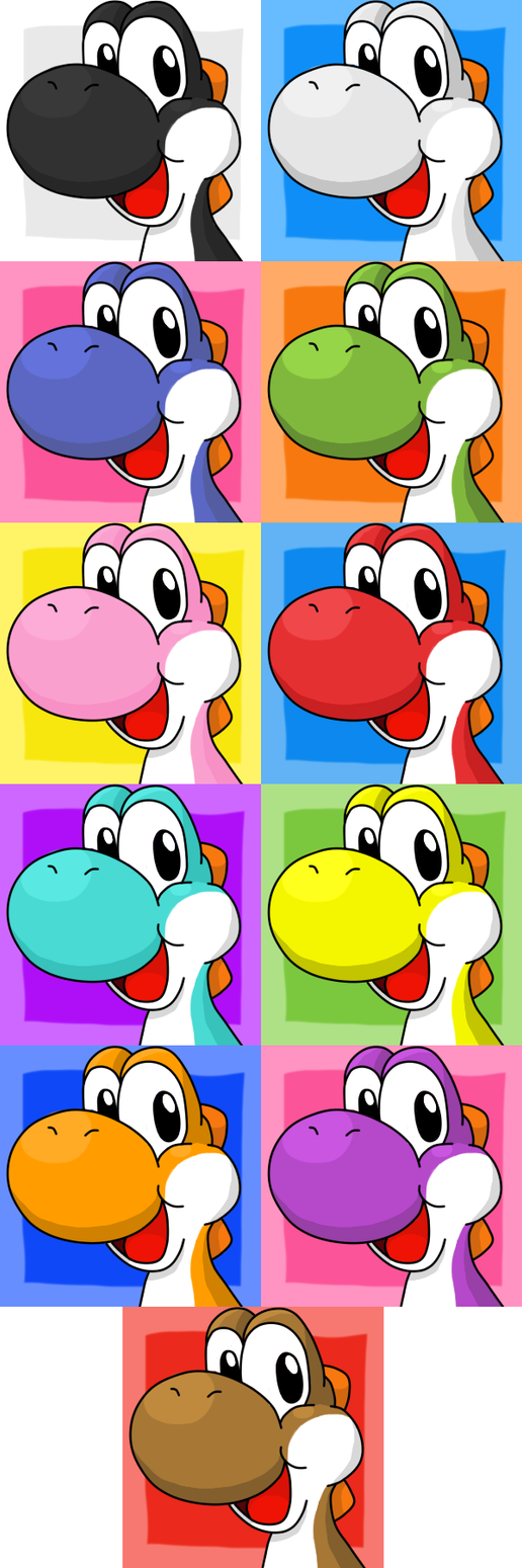 [FREE TO USE] Yoshi all colors by Hime--Nyan on DeviantArt
