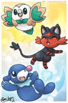 The Alola Starters: Rowlet, Litten and Popplio!