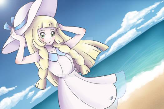 Lillie at the beach [+ Speedpaint]