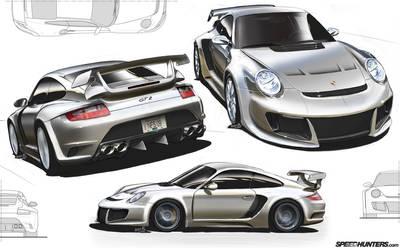 Porsche Bodykit Design by andyblackmoredesign
