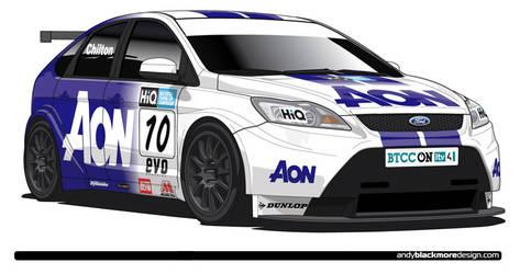 Team Aon BTCC Focus -Vector by andyblackmoredesign