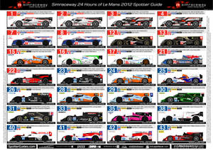 24hrs of Le Mans Spotter Guide, Sheet 1