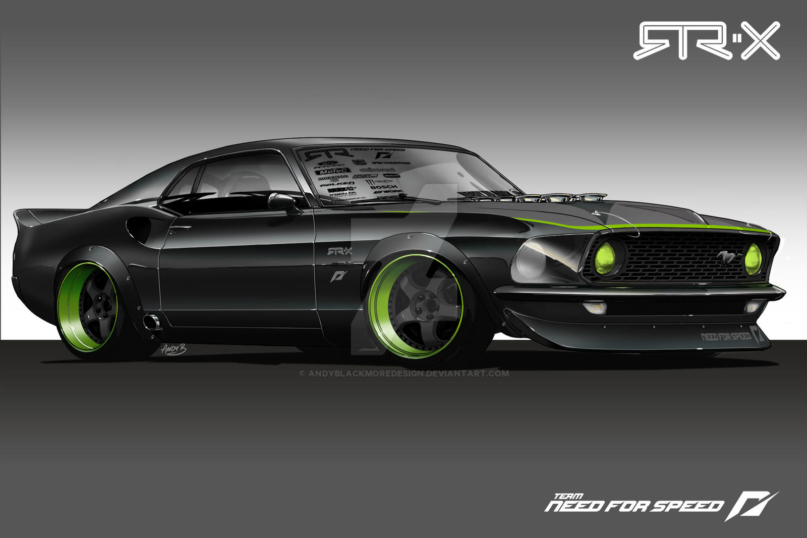 Mustang Rtr X Concept Renders By Andyblackmoredesign On Deviantart