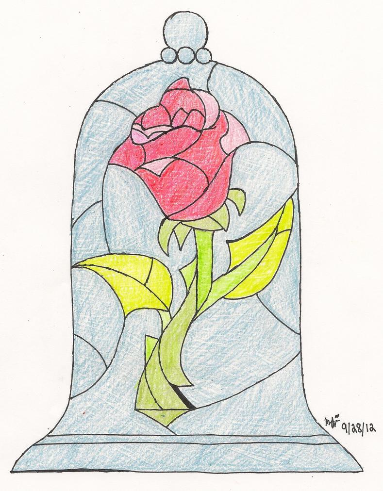 Enchanted Rose Drawing: The Enchanted Rose By Mjpointeshoe13 On DeviantArt