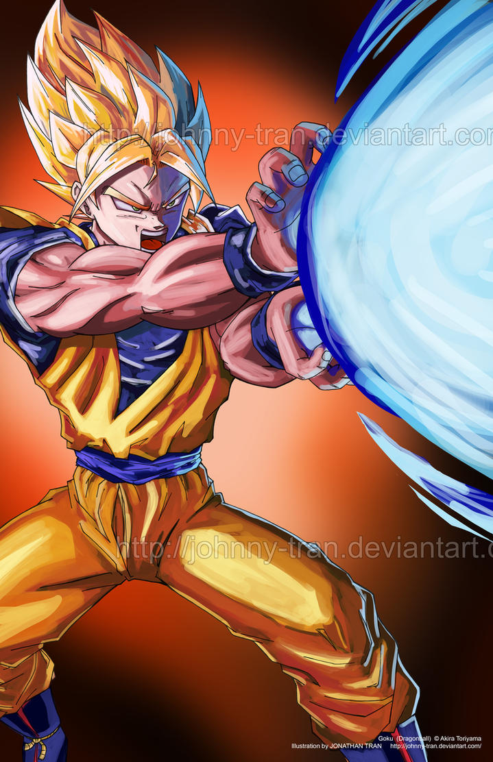 Goku - attempt #1 at digital painting by Johnny-Tran