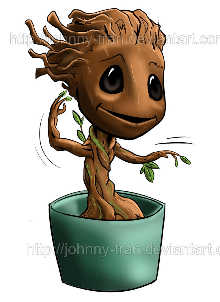 Chibi Baby groot by Jonathan Tran by Johnny-Tran