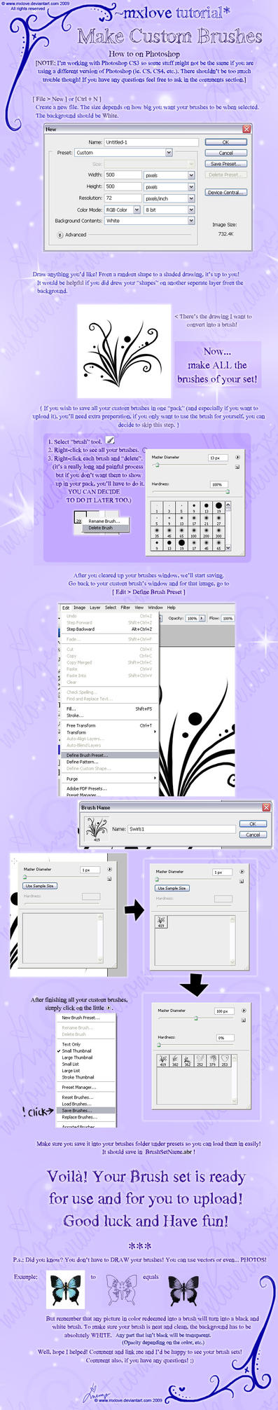 Make your own PS Brushes - Tut by mxlove